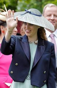 Princess Beatrice, June 17, 2016 in Sarah Cant | Royal Hats
