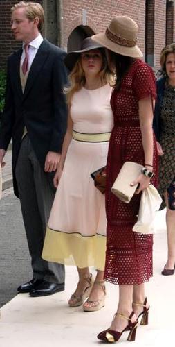 Princess Marie-Gabrielle of Nassau and Princess Marie-Astrid of Liechtenstein, June 18, 2016 | Royal Hats