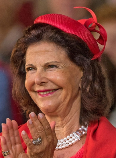 Queen Silvia, July 12, 2016 in Philip Treacy | Royal Hats