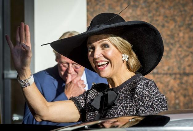 Queen Maxima, Oct 4, 2016 in Fabienne Delvigne   Royal Hats