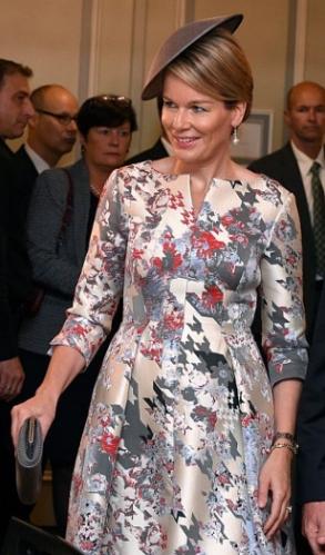 Queen Mathilde, Oct 18, 2016 | Royal Hats