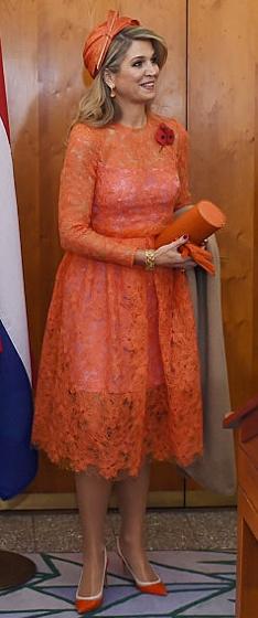 Queen Máxima, Nov 2, 2016 in Fabienne Delvigne   Royal Hats