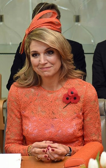Queen Máxima, Nov 2, 2016 in Fabienne Delvigne | Royal Hats