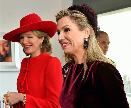 Queen Mathilde & Queen Máxima , Nov 29, 2016 | Royal Hats