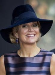 Queen Máxima, Oct 3, 2016 in Fabienne Delvgine | Royal Hats