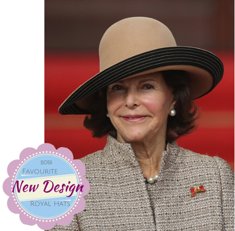 Queen Silvia, Oct 5, 2016 | Royal Hats