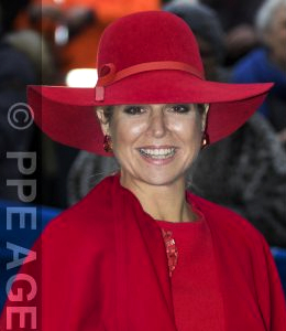 Queen Máxima, Dec 1, 2016 in Fabienne Delvgine | Royal Hats