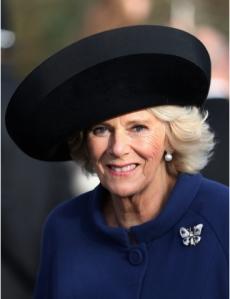 Duchess of Cornwall, Dec 25, 2016 in Philip Treacy | Royal Hats