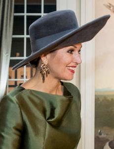 Queen Máxima, Feb 18, 2017 in Fabienne Delvigne | Royal Hats