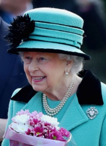 Queen Elizabeth, Feb 5, 2017 in Rachel Trevor Morgan | Royal Hats