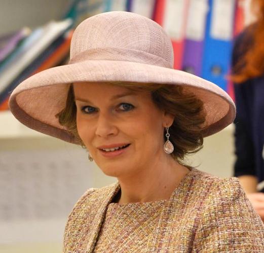 Queen Mathilde, Mar 29, 2017 in Fabienne Delvigne | Royal Hats