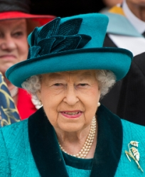 Queen Elizabeth, April 13, 2017 in Angela Kelly | Royal Hats
