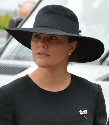 Crown Princess Victoria, May 11, 2017 in Yves Saint Laurent | Royal Hats