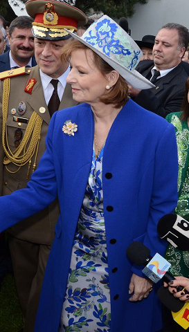 Crown Princess Margareta, May 10, 2017 in Kristina Dragomir | Royal Hats