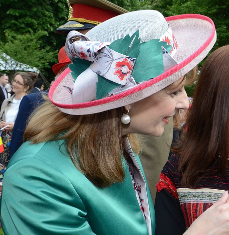 Princess Maria, May 10, 2017 in Kristina Dragomir | Royal Hats