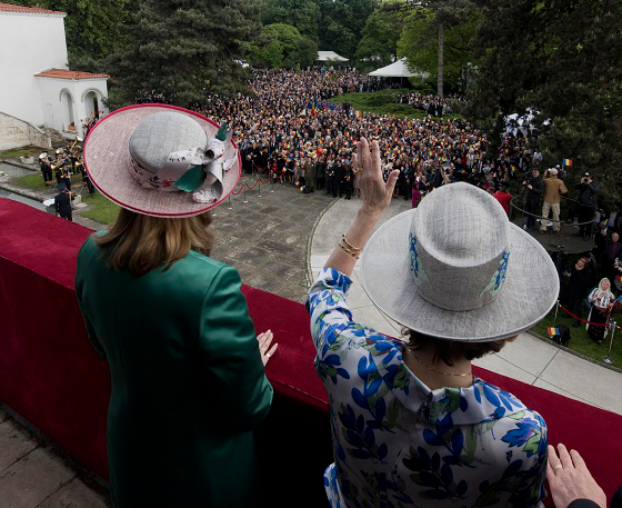 Crown Princess Margareta & Princess Maria, May 10, 2017 in Kristina Dragomir | Royal Hats