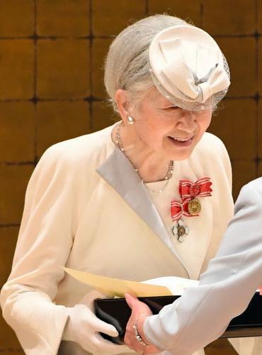 Empress Michiko, May 25, 2017   Royal Hats