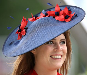 Princess Eugenie, June 22, 2017 in Bundle McLaren | Royal Hats