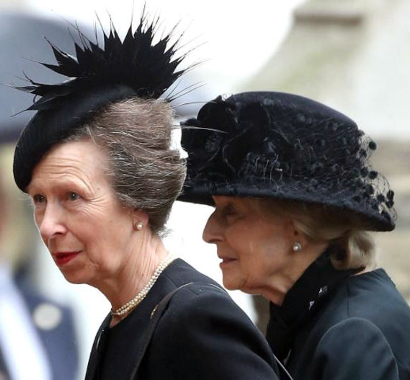 Princess Anne & Princess Alexandra, Jun 27, 2017 || Royal Hats