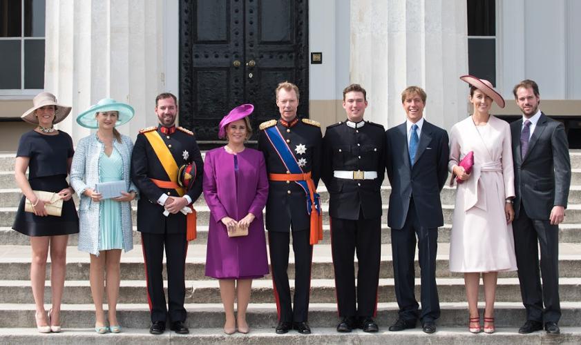 Jordan & Luxembourg Royals Attend Sandhurst Parade