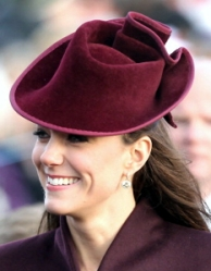 Duchess of Cambridge, Dec 25, 2011 in Jane Corbett | Royal Hats