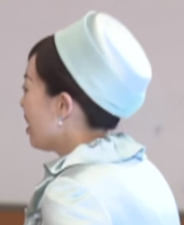 Princess Hisako of Takamado topped her textured pale lilac suit with a  matching flat crowned hat with double brim dfeba1195df1